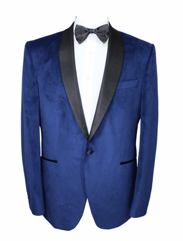 Blue Velvet Semi-Slim Fit Dinner Suit