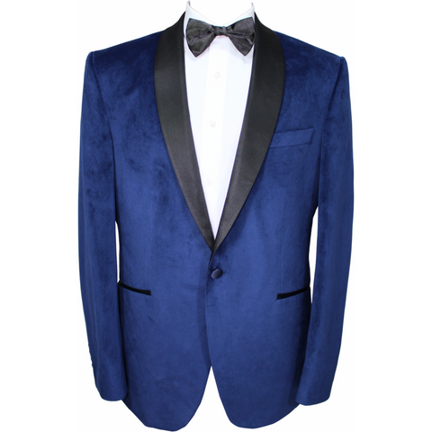 Blue Velvet Semi-Slim Fit Dinner Jacket