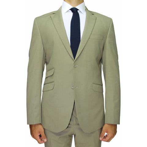 Khaki Semi-Slim Fit Suit (DOPE)