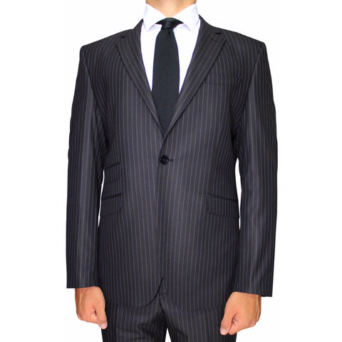 Black Stripe Superior Semi-Slim Fit Suit (DOPE)