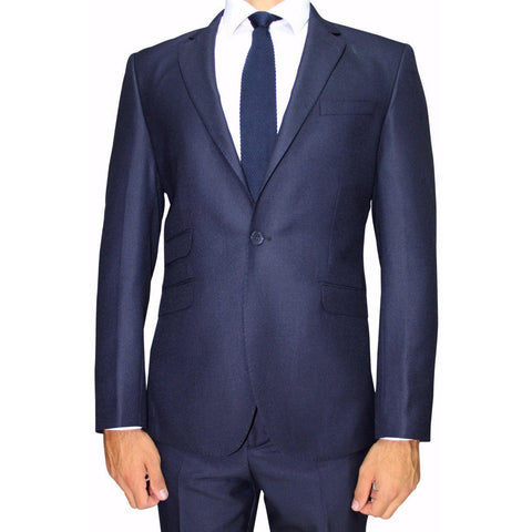 Navy Essential Semi-Slim Fit Suit (DOPE)