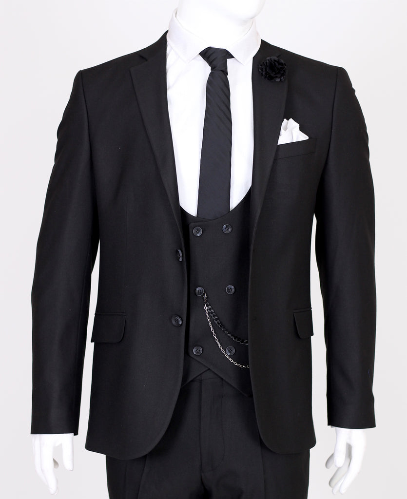 Peaky Blinders Black Tweed 3 Piece Suit - Jack Martin Menswear