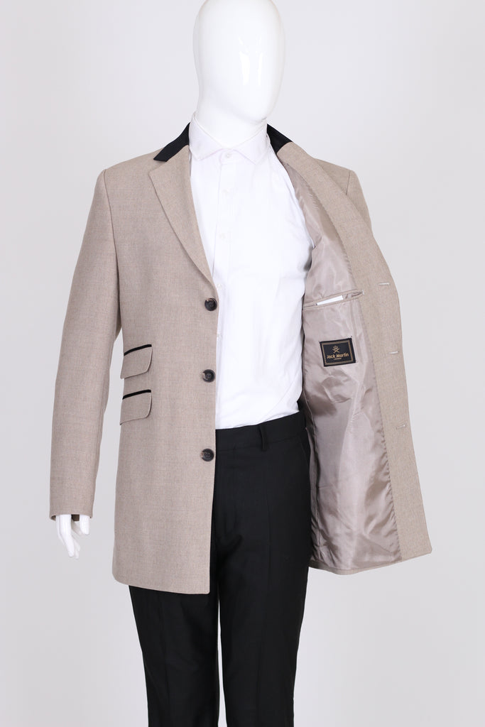 Peaky Blinders - Cream Wool Tweed Overcoat