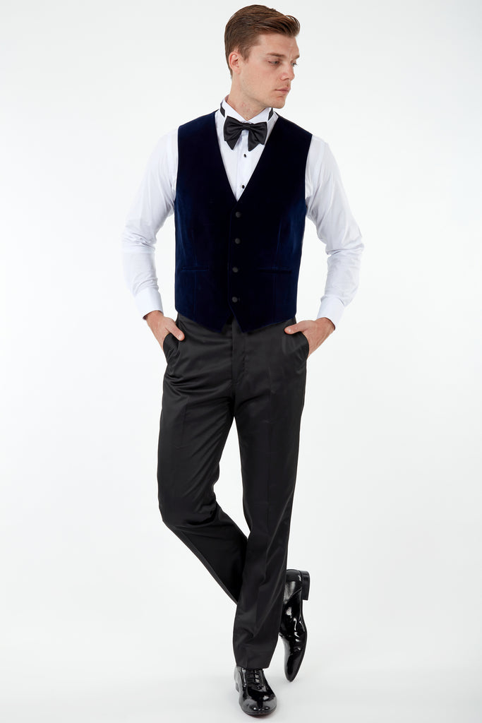 GABRIEL - Midnight Blue Velvet Dinner / Tuxedo Jacket