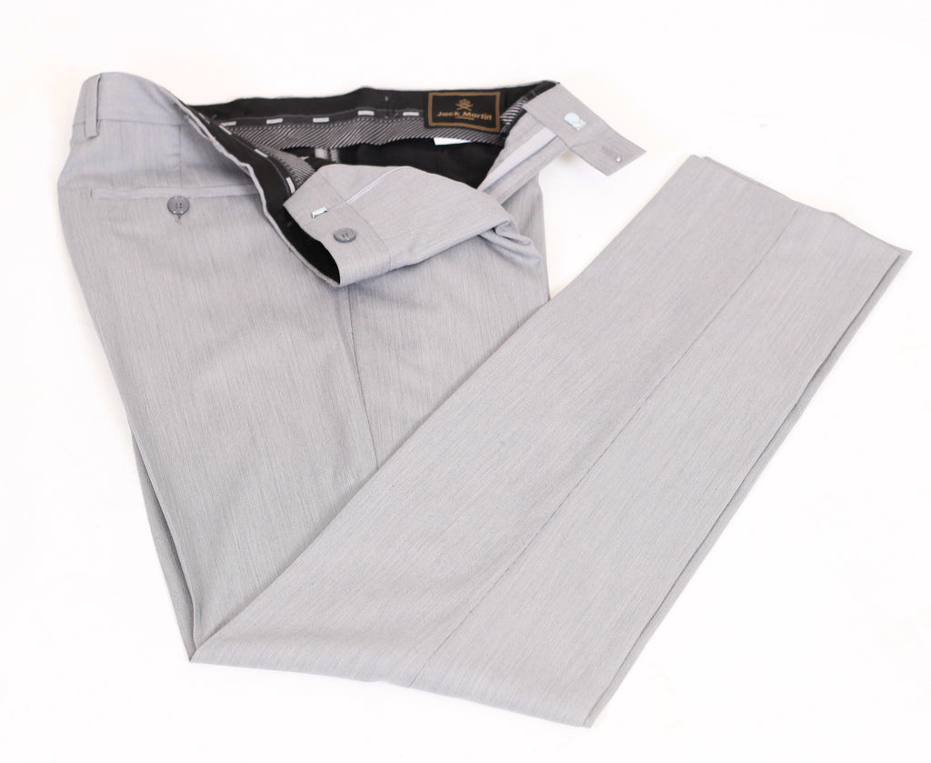Grey & Blue Textured Semi Slim Fit Suit Trousers (PERCY)
