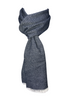 Navy Tweed Pure Wool Scarf