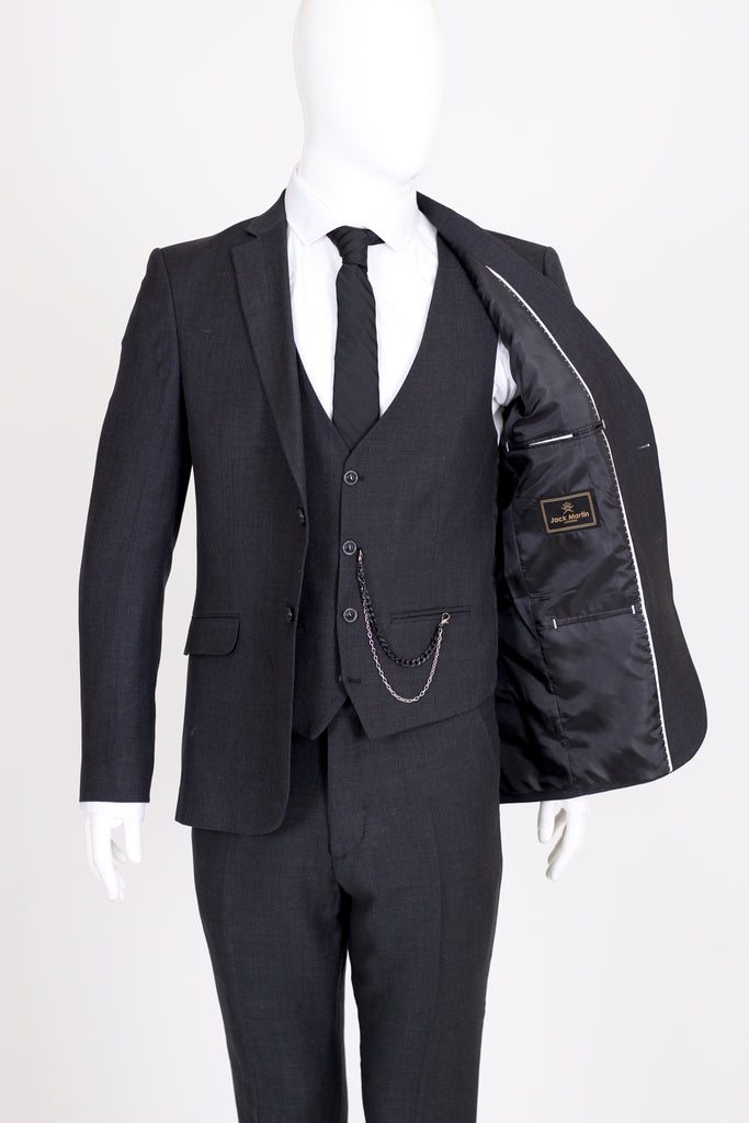Peaky Blinders Ash Black Tweed 3 Piece Suit