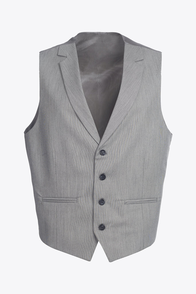 Grey & Black Textured Collared Suit Waistcoat (PERCY)