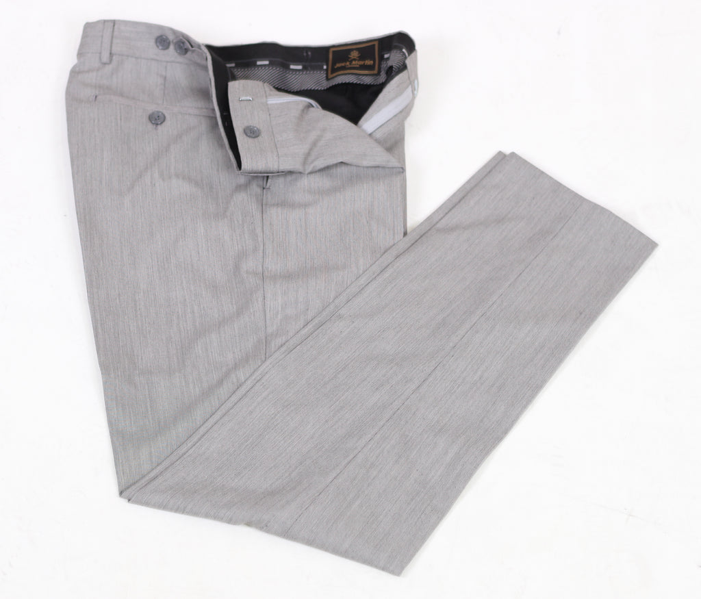 Grey & Black Textured Semi Slim Fit Suit Trousers (PERCY) - Jack Martin Menswear