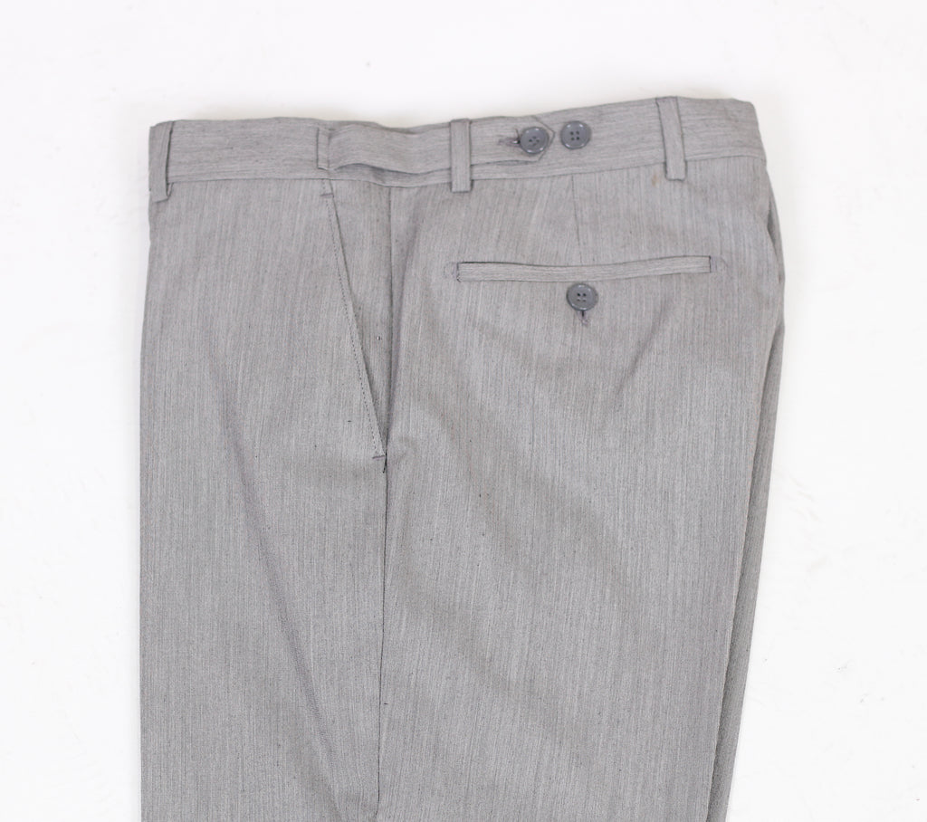 Grey & Black Textured Semi Slim Fit Suit Trousers (PERCY)