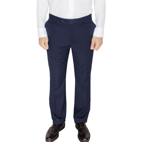 Navy Superior Semi-Slim Fit Suit Trousers