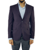 Burgundy Check Wool Slim Fit Blazer