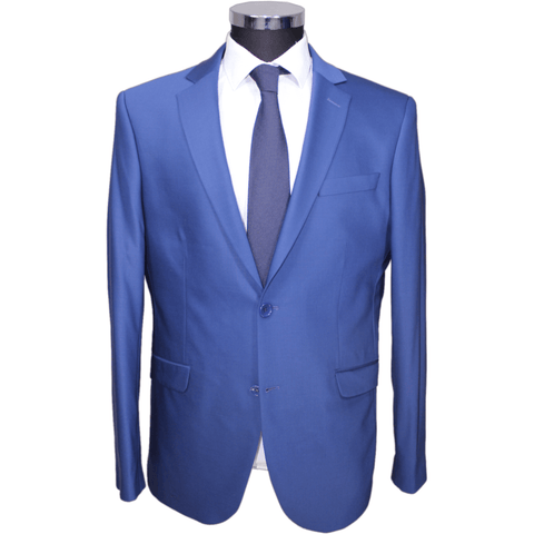 Blue Deluxe 100% Wool Semi-Slim Fit Suit