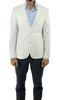 White Linen Cotton Slim Fit Blazer with Details
