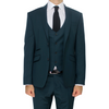 Green Superior Peak Lapel Semi-Slim Fit Suit Jacket