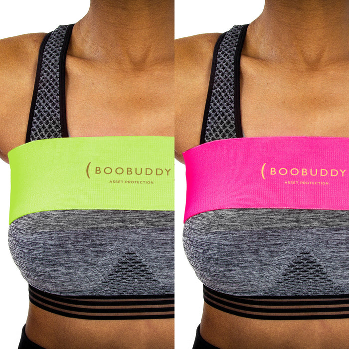Boobuddy Adjustable Breast Support Band | Green & Pink Bundle | How to Wear a Boobuddy