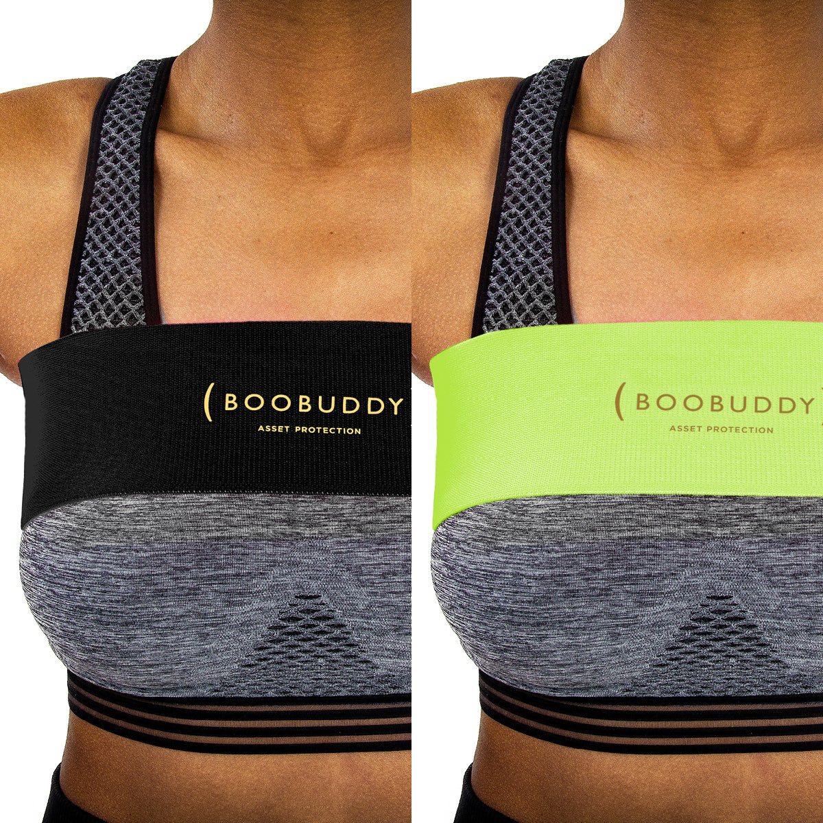 Boobuddy Adjustable Breast Support Band | Black & Green Bundle | How to Wear a Boobuddy