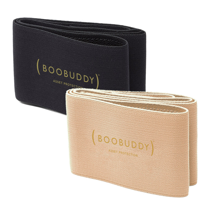 Boobuddy Adjustable Breast Support Band | Beige & Black Bundle | SAVE £13!