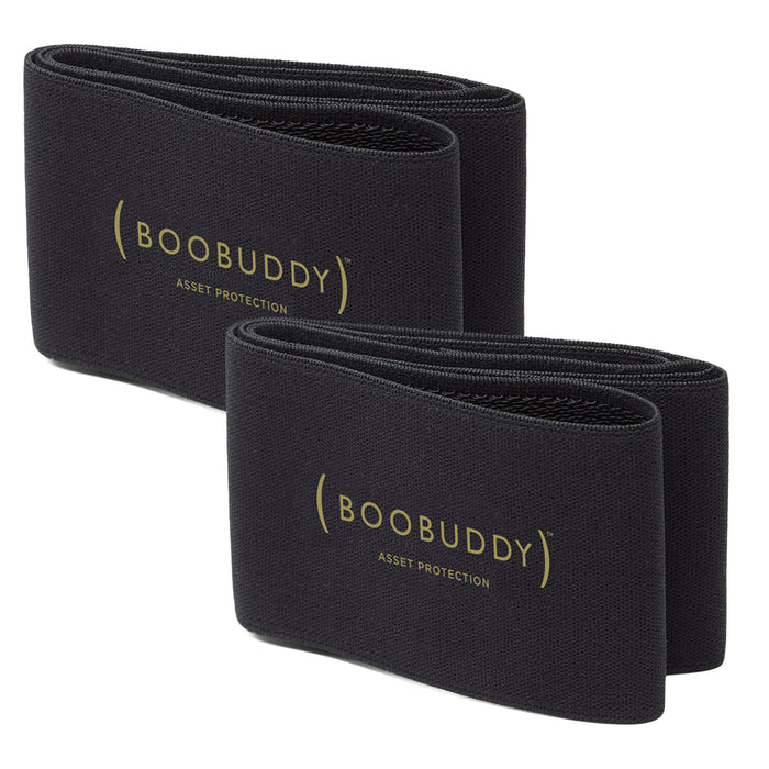 Boobuddy Adjustable Breast Support Band | Black Twin Pack