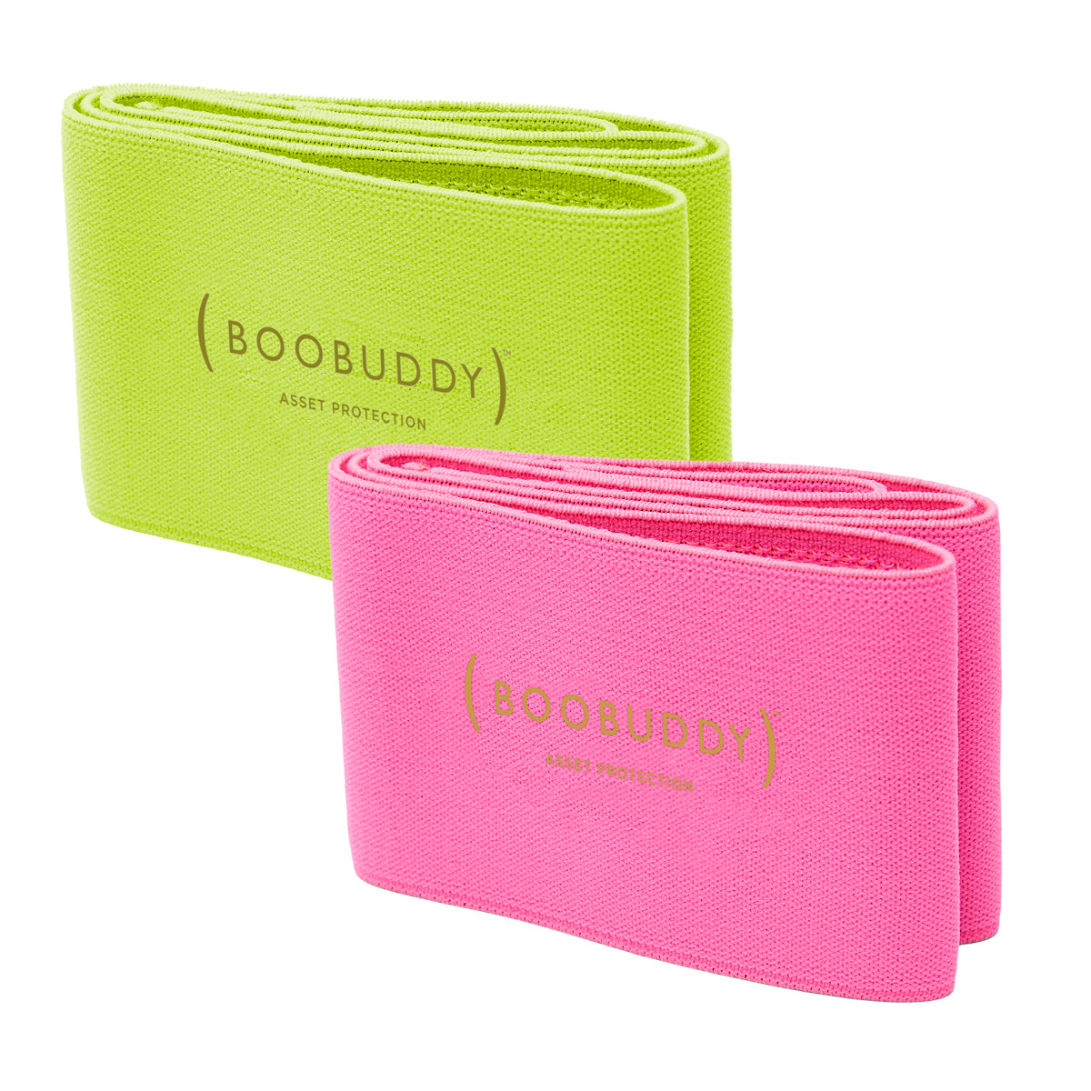 Boobuddy Adjustable Breast Support Band | Green & Pink Bundle | SAVE £13!