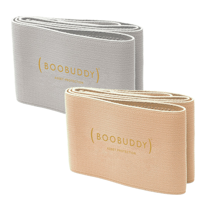 Boobuddy Adjustable Breast Support Band | Beige & Grey Bundle | SAVE £13!