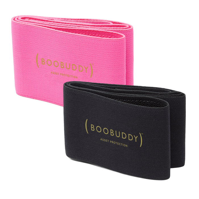 Boobuddy Breast Support Band | Black & Pink Bundle | SAVE £13!