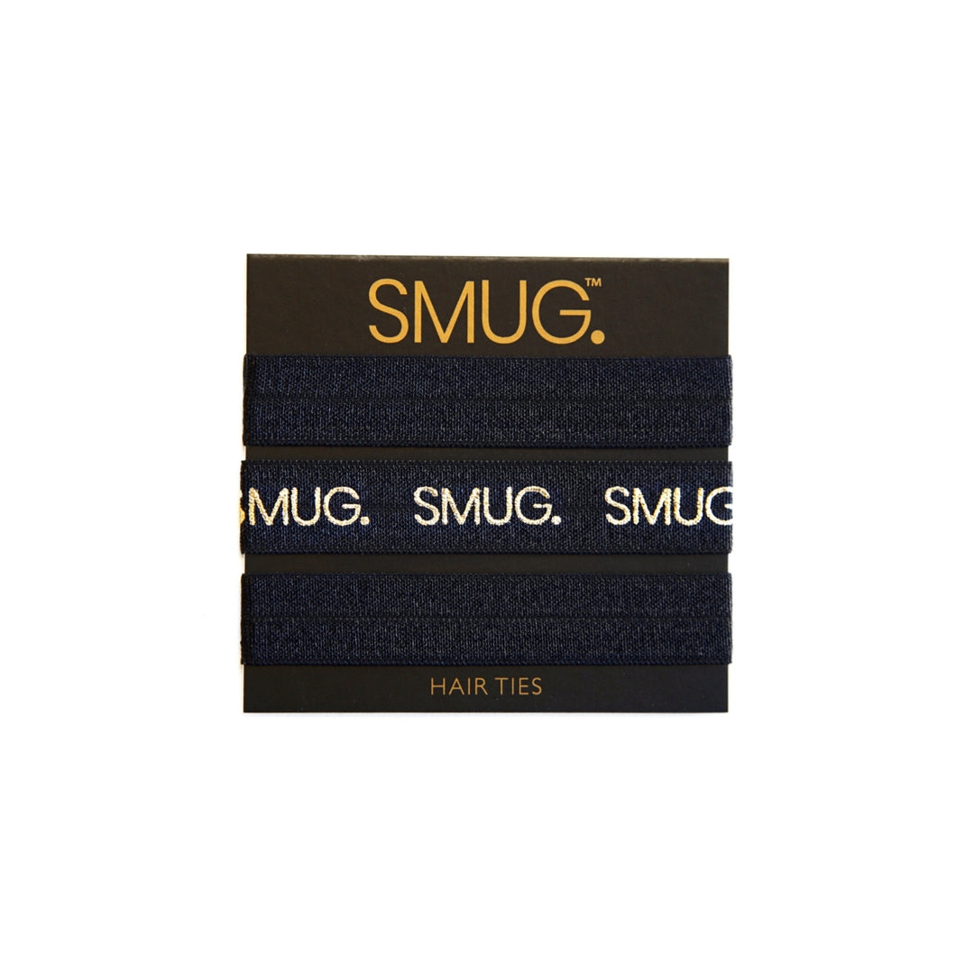 SMUG Snag-Free Hair Ties with Logo Print
