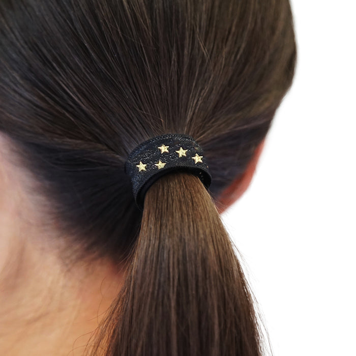 SMUG Active Printed Hair Bands with Star Print