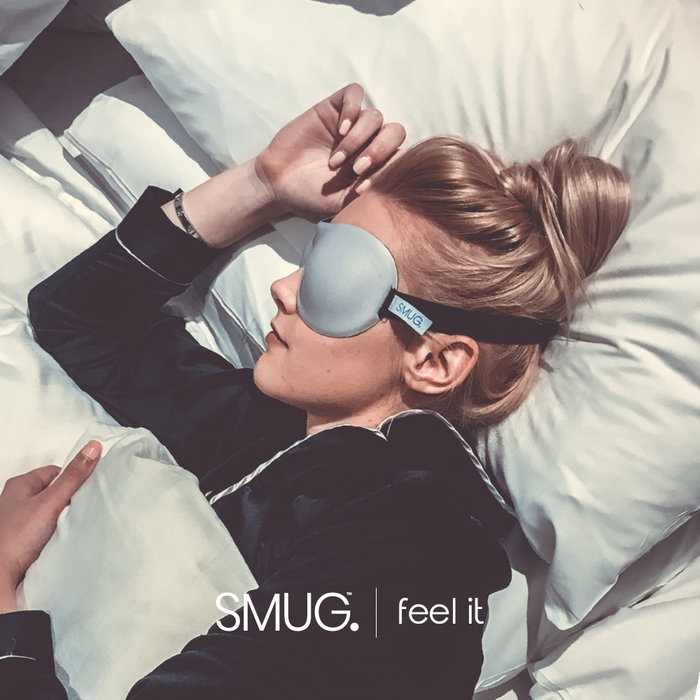 SMUG Active Contoured 3D Blackout Sleep Mask - Grey