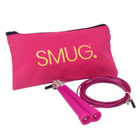 SMUG Active Skipping Rope & Bag Fitness Kit - Pink