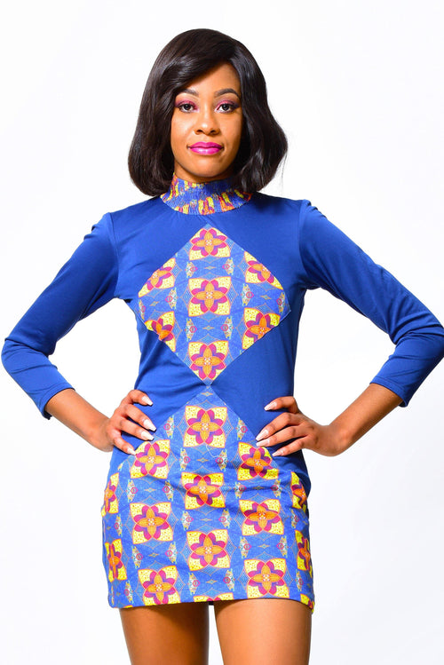 Bodycon Dress 4 | African Print Dress alleon1.myshopify.com