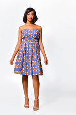 Fit & Flare Dress Off Shoulder | African Print Dress - ALLEON
