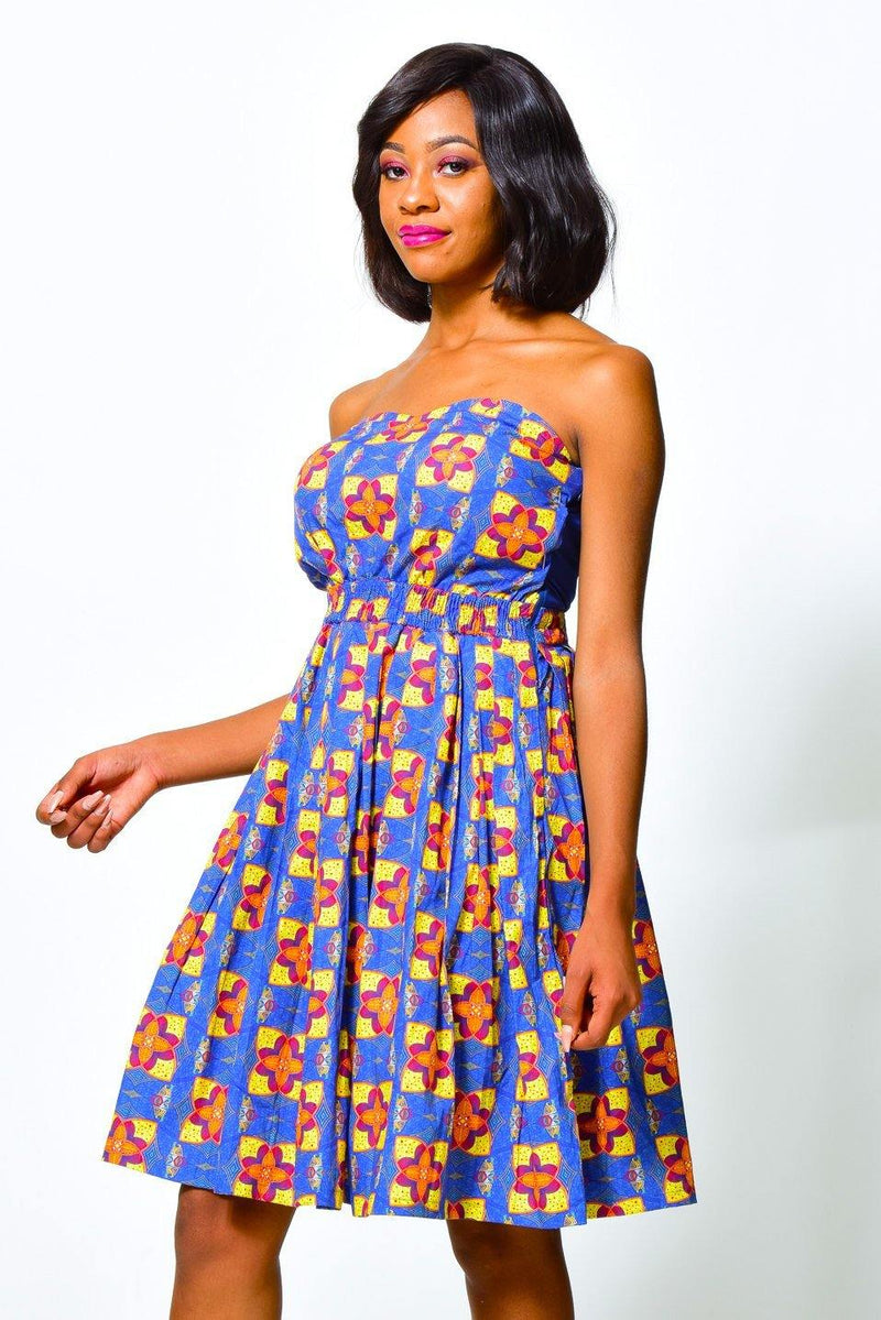 Fit & Flare Dress Off Shoulder | African Print Dress alleon1.myshopify.com