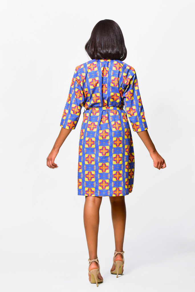 WRAP & DRAPPED DRESSDress - Alleon traditional african prints