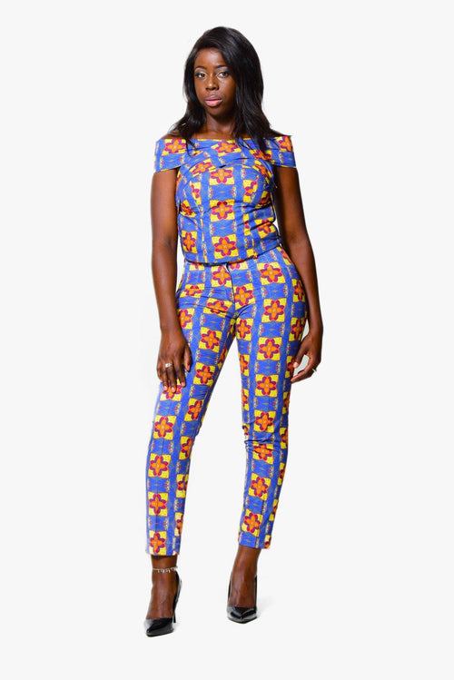 Cigarette trousers | African Print - ALLEON
