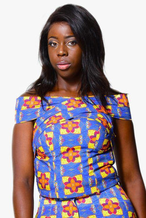 Off shoulder top | African Print alleon1.myshopify.com