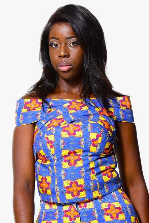 Off shoulder top | African Print - ALLEON