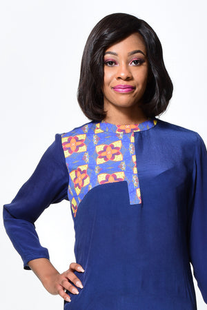 A LINE DRESS | African Print Dress alleon1.myshopify.com