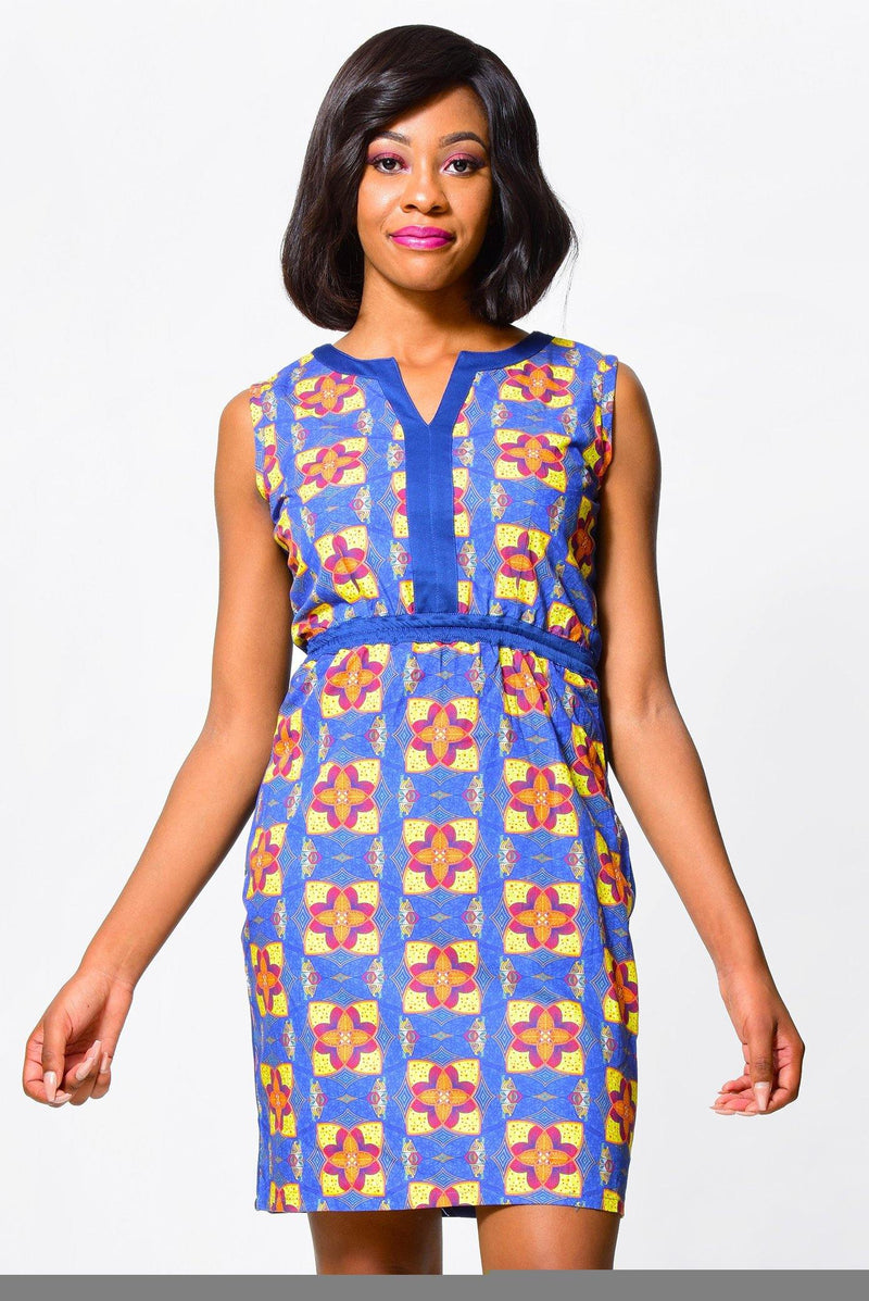 SHEATH DRESS | African Print Dress alleon1.myshopify.com