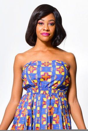 Fit & Flare Dress | Off ShoulderDress - Alleon traditional african prints