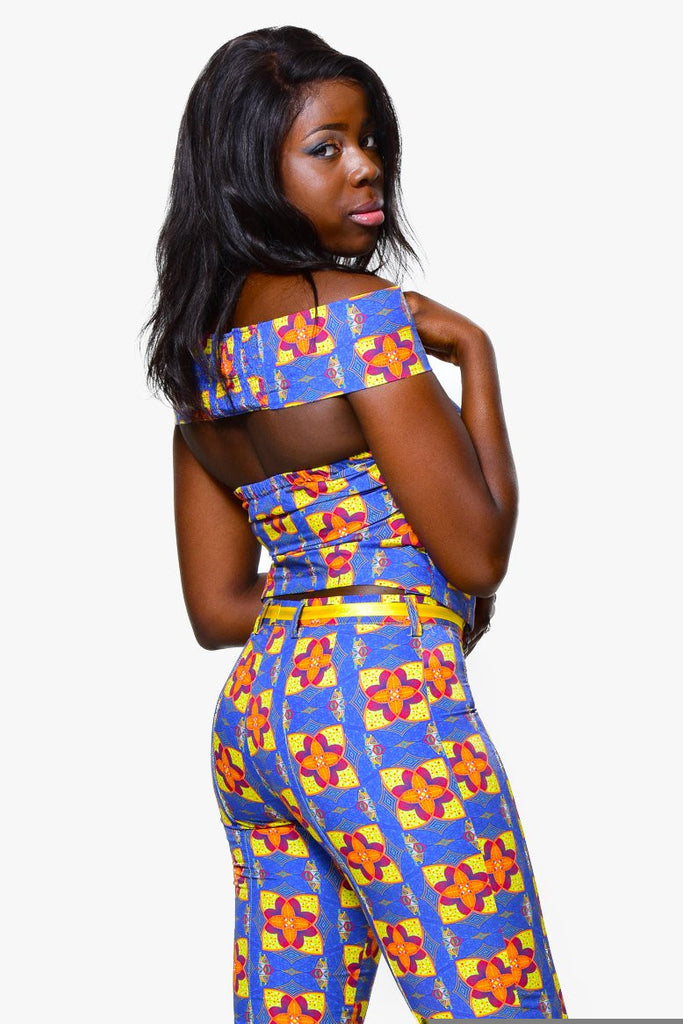 Off shoulder topTop - Alleon traditional african prints