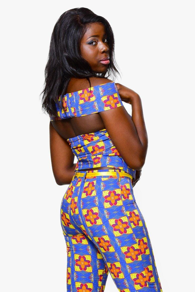 Cigarette trousersTrousers - Alleon traditional african prints