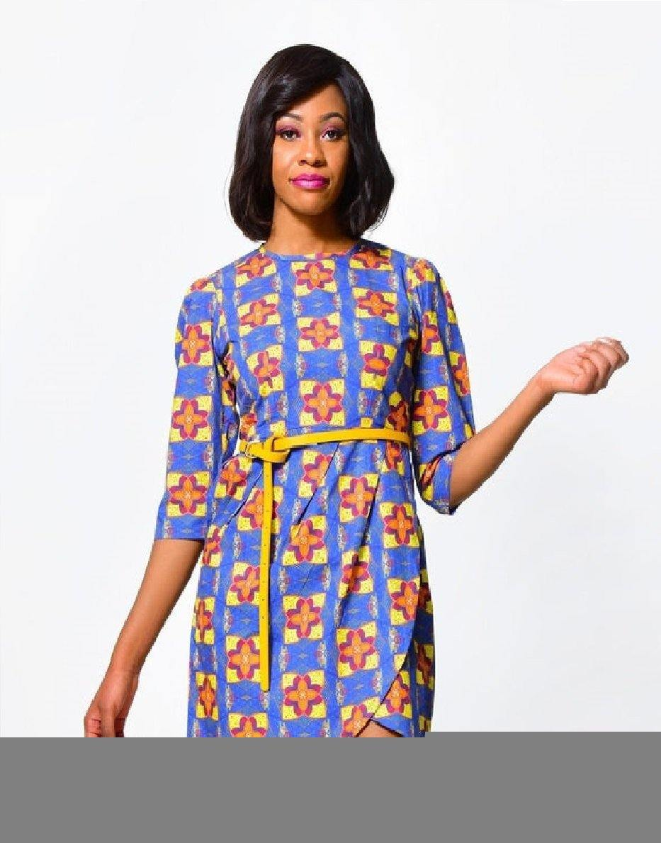 Bodycon Dress 3  | African Print Dress alleon1.myshopify.com