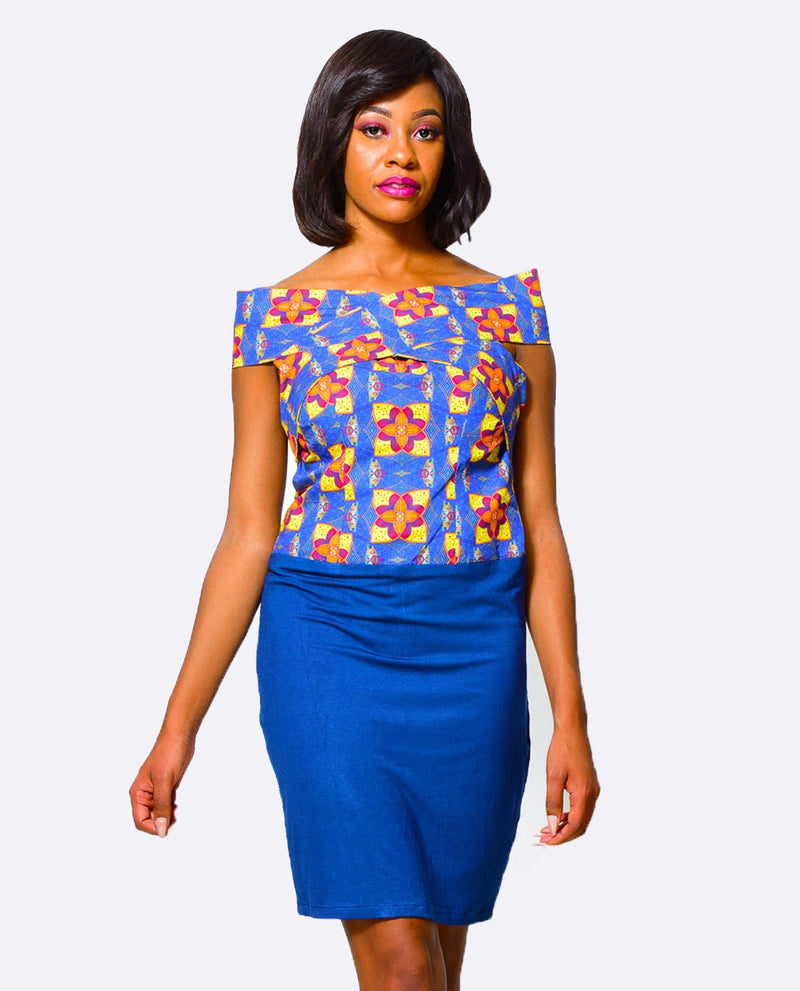 Bodycon Dress  | African Print Dress alleon1.myshopify.com