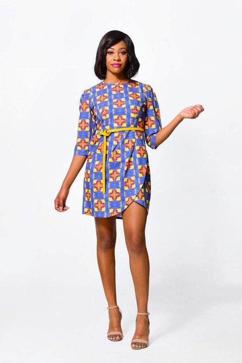 Bodycon Dress 3  | African Print Dress - ALLEON