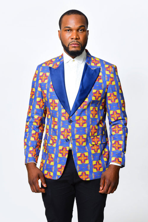 Dua Afrikanischer Herrenblazer, in traditionellen Prints