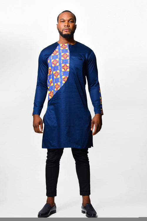 Men Long-Shirt | African Print - ALLEON