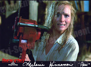 "Melanie Kinnaman Hand Signed 8x10 Photo Friday the 13th Part 5: A New Beginning - ""Pam Throws Chainsaw"""