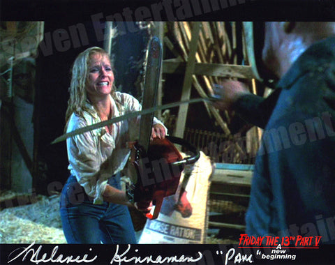 "Melanie Kinnaman Hand Signed 8x10 Photo Friday the 13th Part 5: A New Beginning - ""Fencing with Jason"""