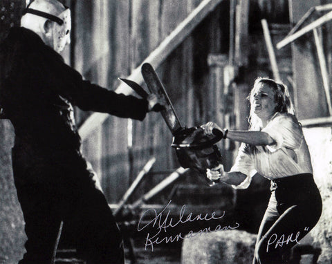"Melanie Kinnaman Hand Signed 8x10 Photo Friday the 13th Part 5: A New Beginning - ""Pam with Chainsaw"""